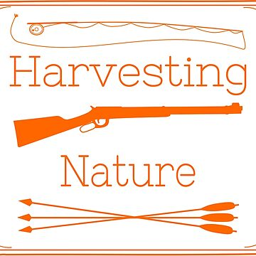 Harvesting Nature Orange Logo Shirt by HarvestingNatur