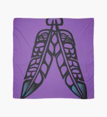 Eagle & Raven Feathers on Purple Scarf