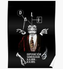 Salvador Dali Surreal Potrait  Poster