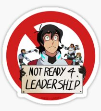 Not Ready For Leadership Sticker
