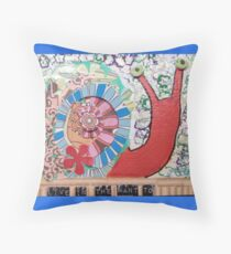 Live in the Want to Snail Throw Pillow