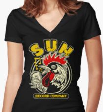 Rooster Of The Sun Women's Fitted V-Neck T-Shirt