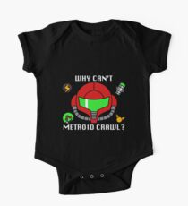 Why Can't Metroid Crawl? One Piece - Short Sleeve