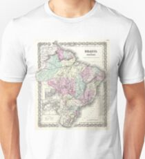 Vintage Map of Brazil (1855) Unisex T-Shirt
