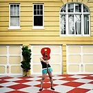 Red Guitar by Kelly Nicolaisen