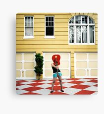 Red Guitar Canvas Print