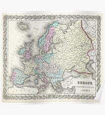 Historical Europe Map Posters Redbubble - Vintage europe map poster