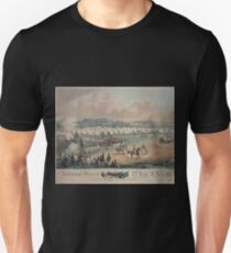 314 National Guard trophy of flags etc with Colonel A Duryee commandant 7th Regt NYSM at Camp Worth Kingston July 1855 forming for review and inspection by Inspector General B F T-Shirt