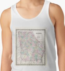 Vintage Map of Georgia (1855) Tank Top