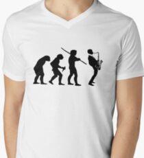 evolution of jazz t-shirt Men's V-Neck T-Shirt
