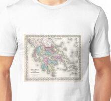 Vintage Map of Greece (1855)  Unisex T-Shirt