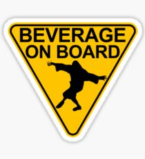 "Big Lebowski ""Beverage On Board"" Sticker Sticker"
