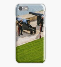 The noon gun at the Saluting Battery iPhone Case/Skin