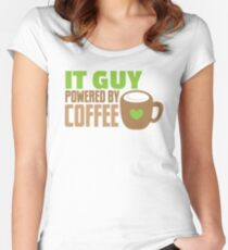 IT GUY powered by coffee Women's Fitted Scoop T-Shirt