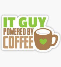 IT GUY powered by coffee Sticker