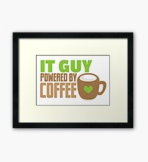 IT GUY powered by coffee Framed Print