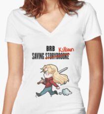 BRB -- Saving Killian Women's Fitted V-Neck T-Shirt