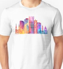 Denver landmarks watercolor poster Unisex T-Shirt