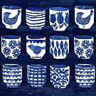 Indigo Pots by TRACEYENGLISH