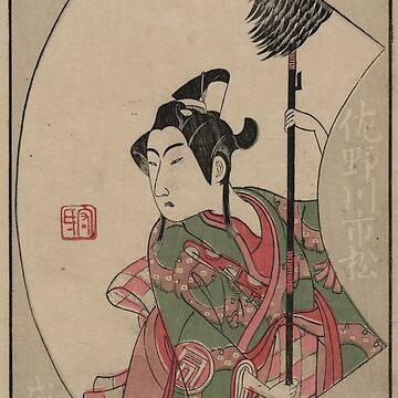 The actor Sanogawa Ichimatsu - Buncho Ippitsusai - 1770 by CrankyOldDude