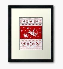 Nerd Pixel Christmas Framed Print