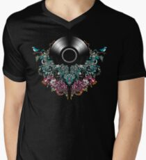Grow - Music tee with Vintage Record Men's V-Neck T-Shirt