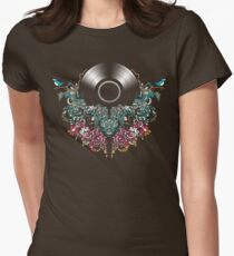 Grow - Music tee with Vintage Record Womens Fitted T-Shirt