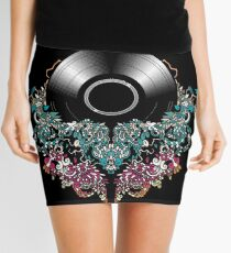 Grow - Music tee with Vintage Record Mini Skirt