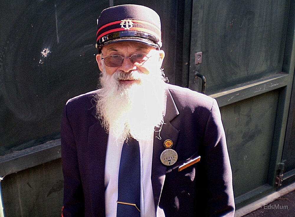 Tram Driver & his Beard - Bendigo Vic. Australia by EdsMum