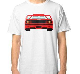 Red Ferrari 80s Video Game T-Shirt