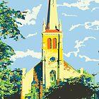 Historic St Francis Borgia Church - Cedarburg WI (bold) by katherinepaulin