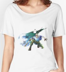 Cid Highwind Grid Artwork and Logo Women's Relaxed Fit T-Shirt