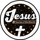 Jesus the Savior Emblem - Christian Design by Kelsorian