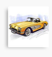 50s CORVETTE Canvas Print