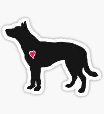 My Australian Cattle Dog Heart Belongs To You Sticker