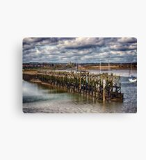 The End Of The Jetty Canvas Print