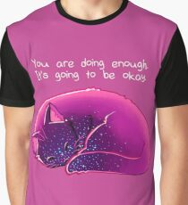 """You Are Doing Enough"" Cat Graphic T-Shirt"