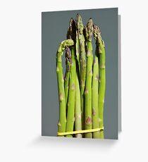Green Asparagus Greeting Card