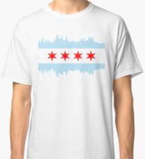 Chicago Skyline Flag Classic T-Shirt