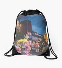 Gloomy skies Drawstring Bag