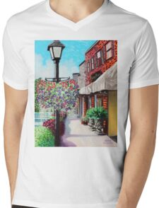 'Mainstreet, Blowing Rock' Mens V-Neck T-Shirt
