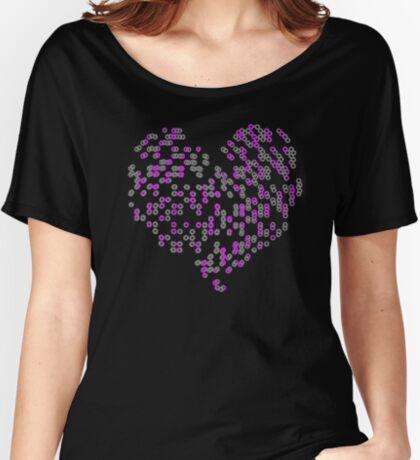 Cool Heart - Crazy Love Valentine Heart T-Shirt Women's Relaxed Fit T-Shirt