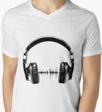 Headphones - Black Men's V-Neck T-Shirt