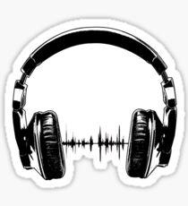 Headphones - Black Sticker