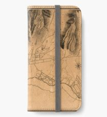 Map Of Honolulu 1887 iPhone Wallet/Case/Skin