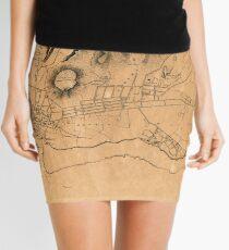 Map Of Honolulu 1887 Mini Skirt