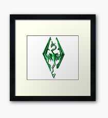 Skyrim Green Glass Framed Print