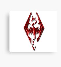 Skyrim - Red Canvas Print