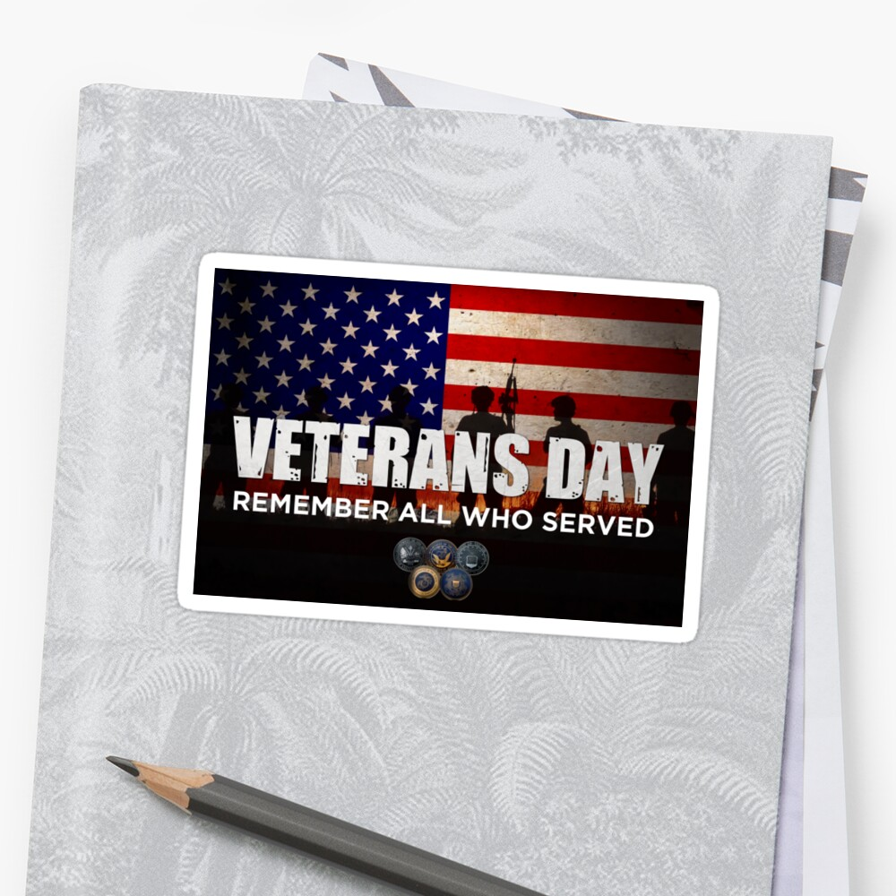 "veterans day gift ideas - thank you veterans"" stickers by"