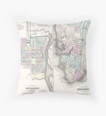 Vintage Map of Savannah and Charleston (1855)  Dekokissen